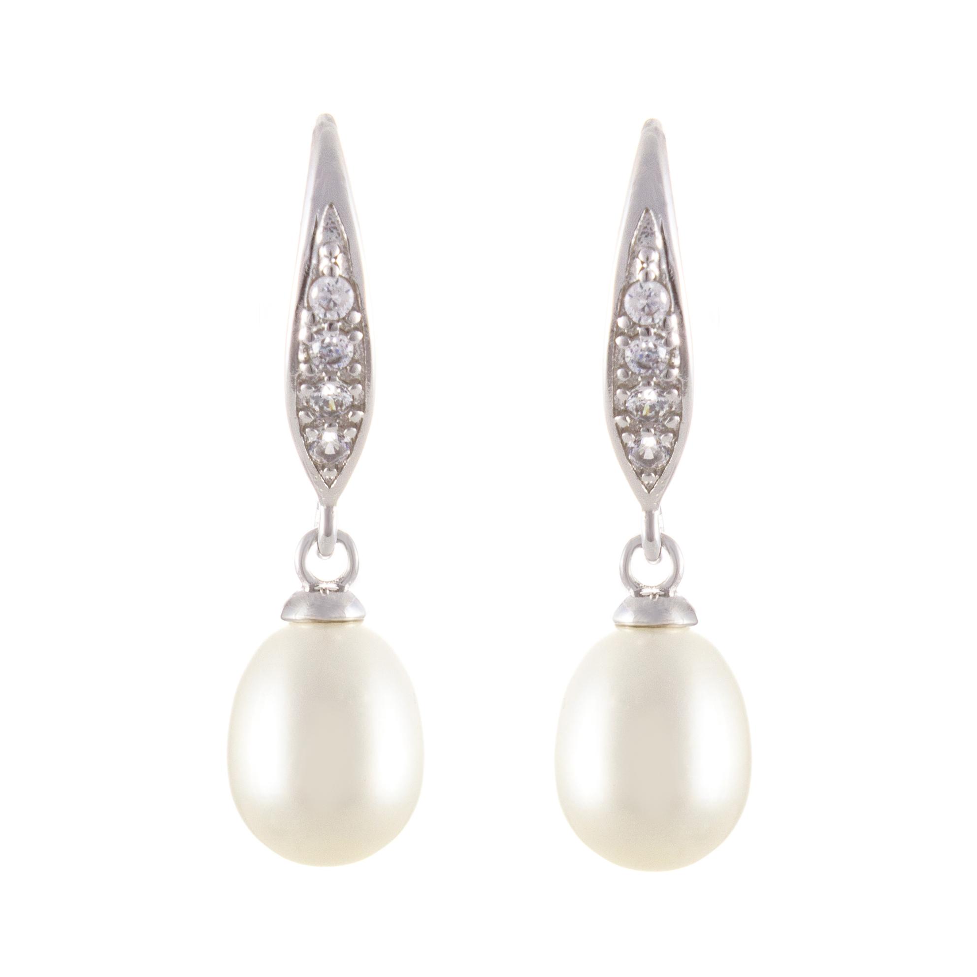 12mm 925 Silber Perle Perlen Ohrhänger Ohrringe Ohrstecker