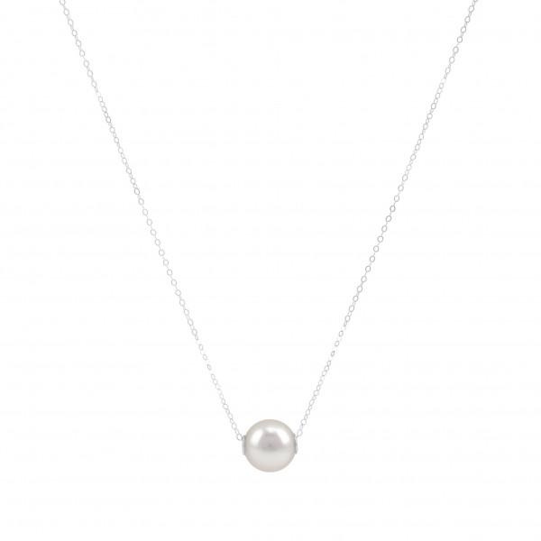 "Perlenkette Collier 18K Weissgold ""Mary"""