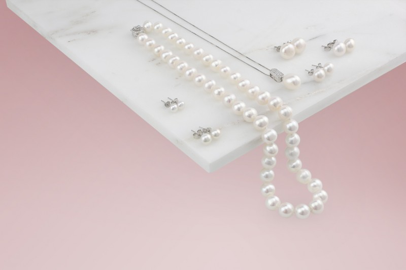 Zucht-Perlen Ohrstecker 10-11mm Weiss NEU