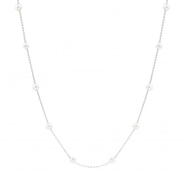 """Perlenkette 18K Weissgold """"Grace"""""""