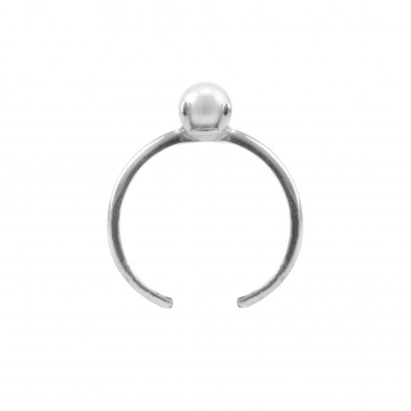 "Ring mit Perle 925 Silber ""Stella"""