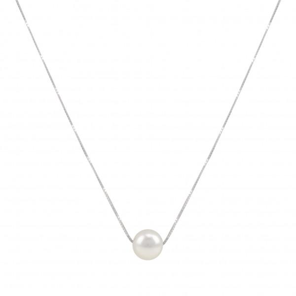 "Perlenkette Collier 925 Silber ""Angelina"""